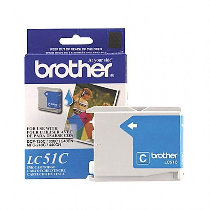 Brother LC51C (LC51) Ink Cartridge, Cyan, OEM