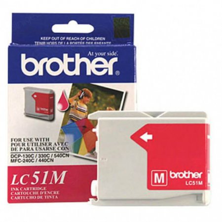 Brother LC51M (LC51) Ink Cartridge, Magenta, OEM