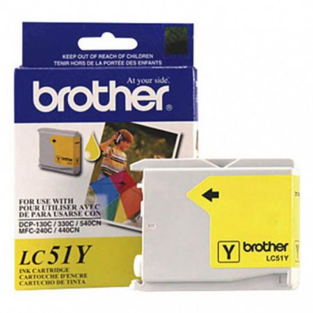Brother LC51Y (LC51) Ink Cartridge, Yellow, OEM