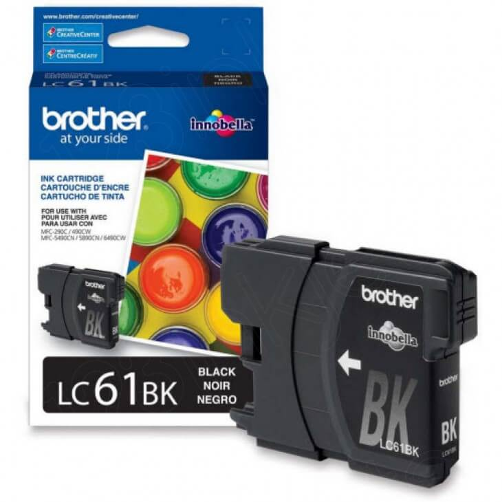 Brother LC61Bk Ink Cartridge, Black, , OEM