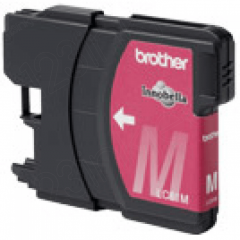 Brother LC65M (LC65) Ink Cartridge, High Yield Magenta, OEM
