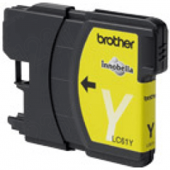 Brother LC65Y (LC65) Ink Cartridge, High Yield Yellow, OEM