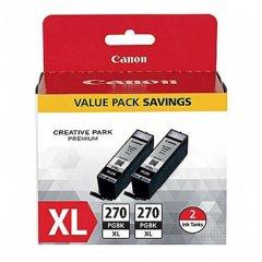 Canon Original PGI-270XL Twin Pack, High-Yield Black Ink