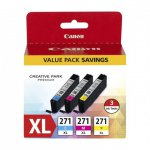 Canon 0337C005 3-Color Multipack CLI-271XL Ink Cartridges, OEM