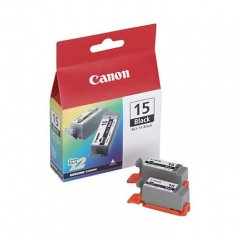 Canon 8190A003 Twin Pack BCI-15BK Ink Cartridges, Black, OEM