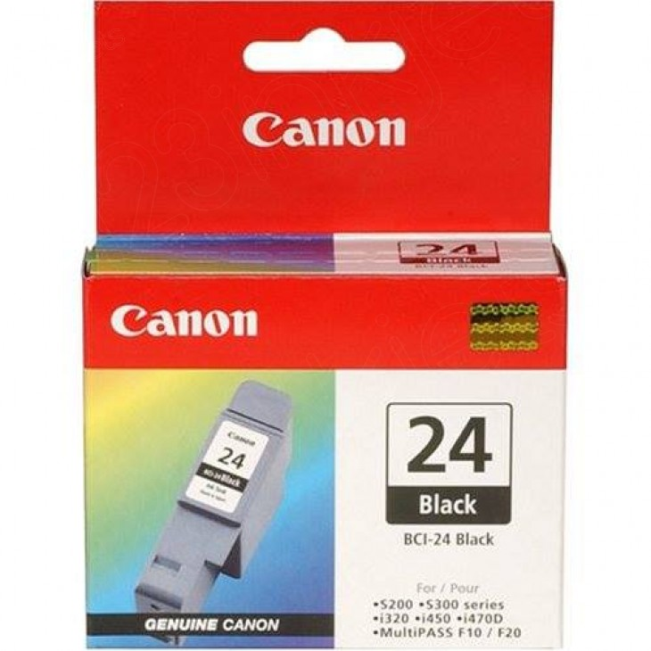 Canon 6881A003 (BCI-24B) Ink Cartridge, Black, OEM