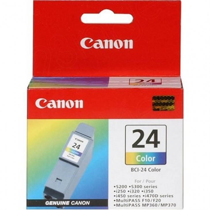Canon 6882A003 (BCI-24C) Ink Cartridge, Color, OEM