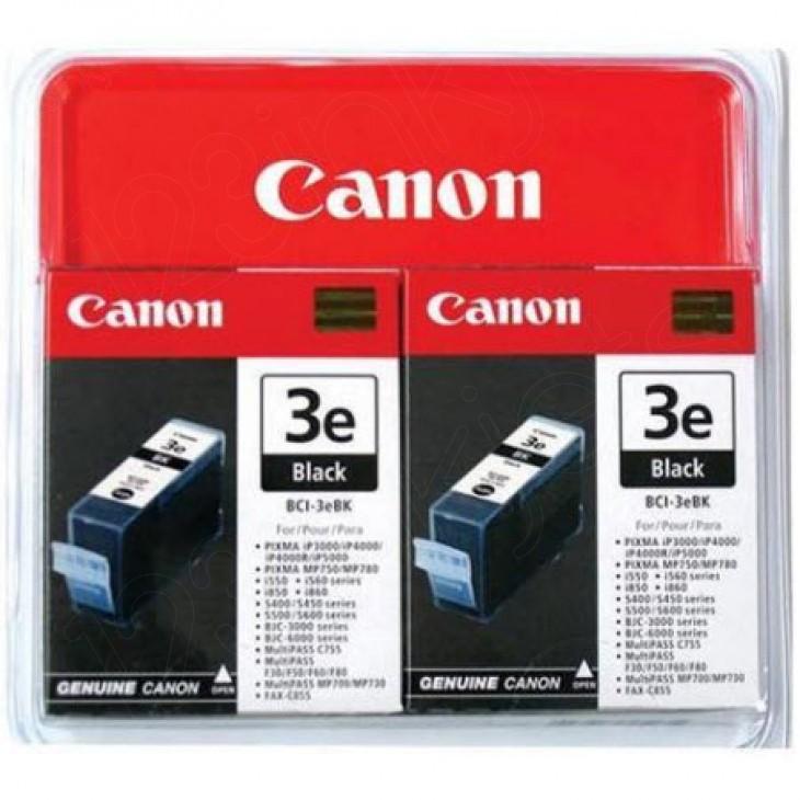 Canon 4479A271 Twin Pack BCI-3eBK Ink Cartridges, Black, OEM
