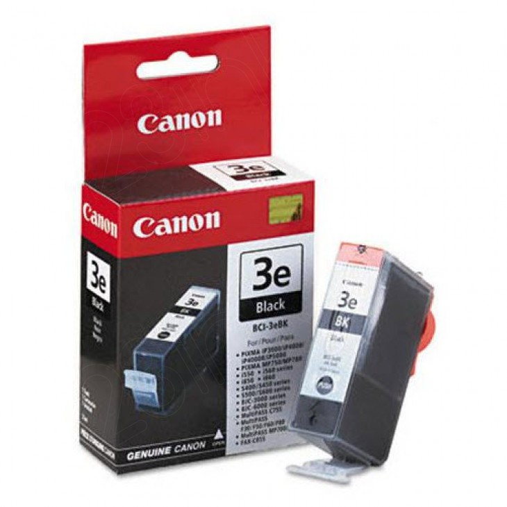 Canon BCI-3eBK (4479A003) Ink Cartridge, Black, OEM