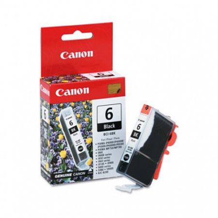 Canon BCI-6BK (4705A003) Ink Cartridge, Black, OEM