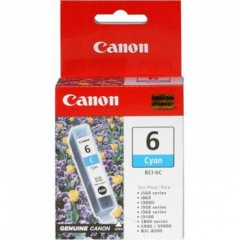Canon BCI-6C (4706A003) Ink Cartridge, Cyan, OEM