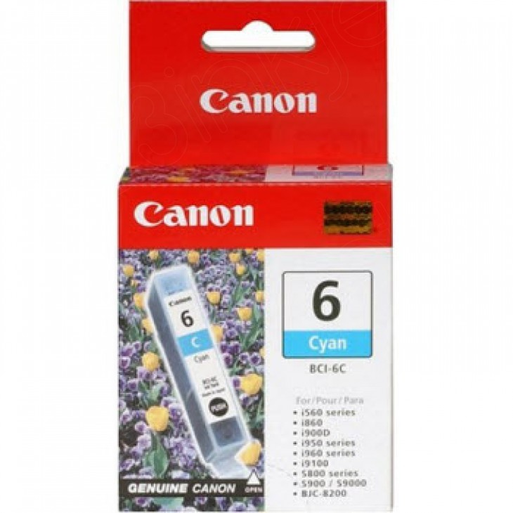 Canon BCI-6C (4706A003) Ink Cartridge, Cyan, OEM
