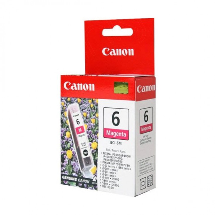 Canon BCI-6M (4707A003) Ink Cartridge, Magenta, OEM
