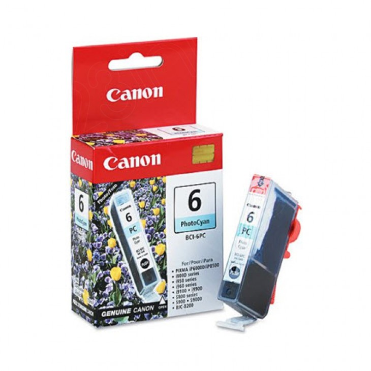 Canon BCI-6PC (4709A003) Ink Cartridge, Photo Cyan, OEM