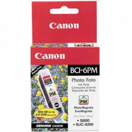 Canon BCI-6PM (4710A003) Ink Cartridge, Photo Magenta, OEM