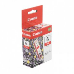 Canon BCI-6R (8891A003) Ink Cartridge, Red, OEM