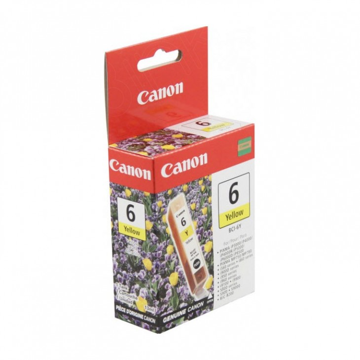 Canon BCI-6Y (4708A003) Ink Cartridge, Yellow, OEM