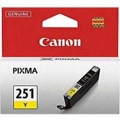 Canon 6516B001 (CLI-251) Ink Cartridge, SY Yellow, OEM