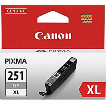Canon 6452B001 (CLI-251XL) Ink Cartridge, HY Gray, OEM