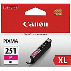 Canon 6450B001 (CLI-251XL) Ink Cartridge, HY Magenta, OEM