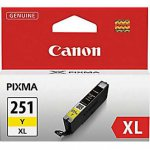 Canon 6451B001 (CLI-251XL) Ink Cartridge, HY Yellow, OEM