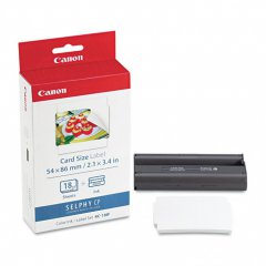 Canon 7741A001 (KC-18IF) Ink Cartridge and Label Set, Color, OEM
