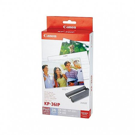 Canon 7739A001 (KC-36IP) Ink Cartridge and Label Set, Color, OEM