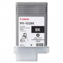 Canon 0895B001AA (PFI-102BK) Ink Cartridge, Dye-Based Black, OEM