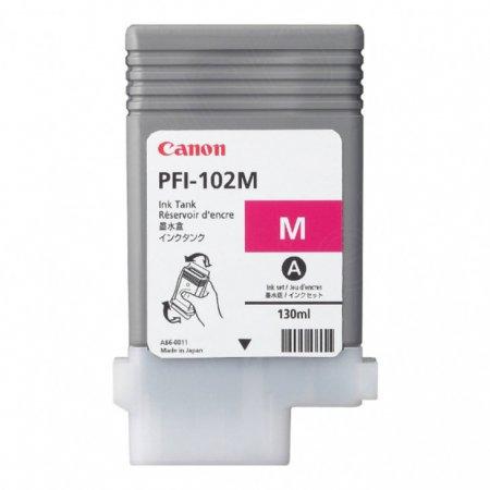 Canon 0897B001AA (PFI-102M) Ink Cartridge, Pigment-Based Magenta, OEM