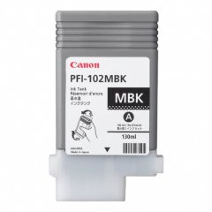 Canon 0894B001AA (PFI-102MBK) Ink Cartridge, Pigment Matte Black, OEM