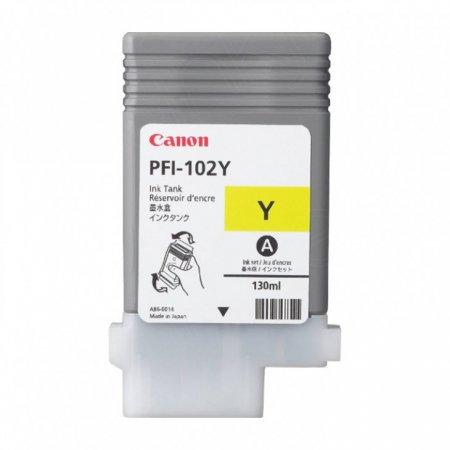 Canon 0898B001AA (PFI-102Y) Ink Cartridge, Yellow, OEM