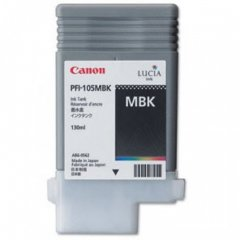 Canon 2999B001AA (PFI-105MBK) Ink Cartridge, Pigment Matte Black, OEM