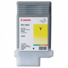 Canon 3003B001AA (PFI-105Y) Ink Cartridge, Pigment Yellow, OEM