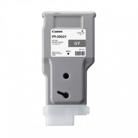 Canon 5312B001AA (PFI-206GY) Ink Cartridge, Gray, OEM