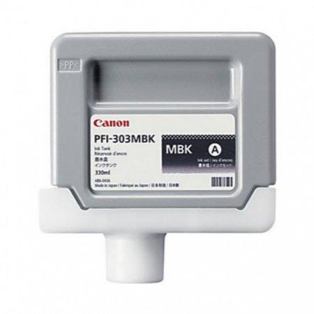Canon 2957B001AA (PFI-303MBK) Ink Cartridge, Dye Matte Black, OEM