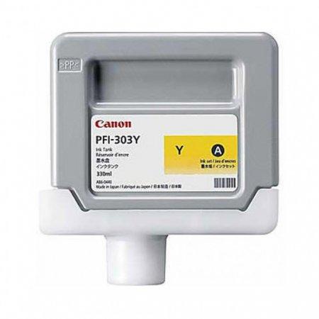 Canon 2961B001AA (PFI-303Y) Ink Cartridge, Dye Yellow, OEM