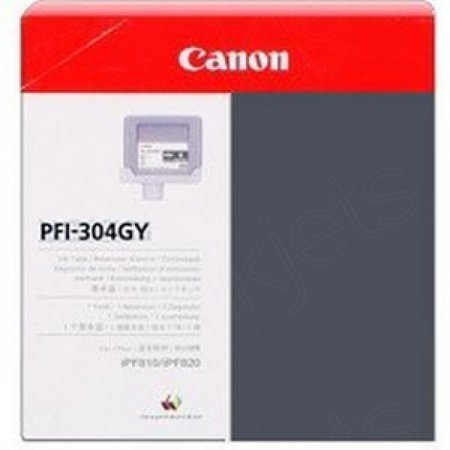 Canon PFI-304GY Ink Cartridge, Gray, OEM