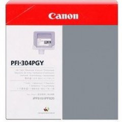 Canon PFI-304PGY Ink Cartridge, Photo Gray, OEM