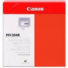 Canon PFI-304R Ink Cartridge, Red, OEM