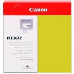 Canon PFI-304Y Ink Cartridge, Yellow, OEM