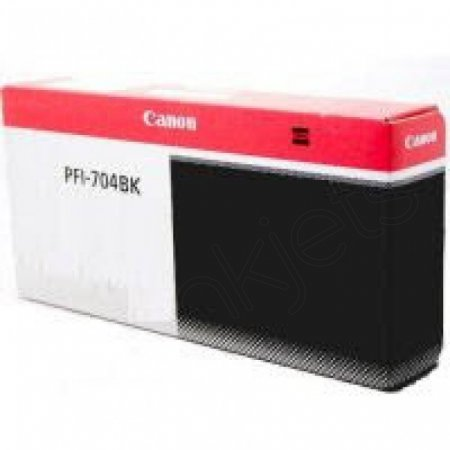 Canon PFI-704BK Ink Cartridge, Black, OEM