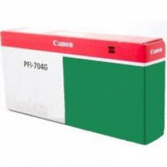 Canon PFI-704G Ink Cartridge, Green, OEM