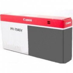 Canon PFI-704GY Ink Cartridge, Gray, OEM