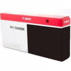 Canon PFI-704MBK Ink Cartridge, Matte Black, OEM