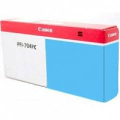 Canon PFI-704PC Ink Cartridge, Photo Cyan, OEM