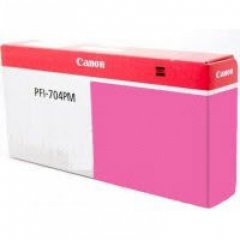 Canon PFI-704PM Ink Cartridge, Photo Magenta, OEM