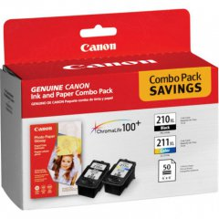 Canon 2973B004 Twin Pack PG-210XL / CL-211XL Ink Cartridges, OEM