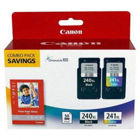 Canon 5206B005 Twin Pack PG-240XL / CL-241XL Ink Cartridges, OEM
