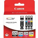 Canon 4530B008 4-Color Multipack PGI-225 / CLI-226 Ink Cartridges, OEM