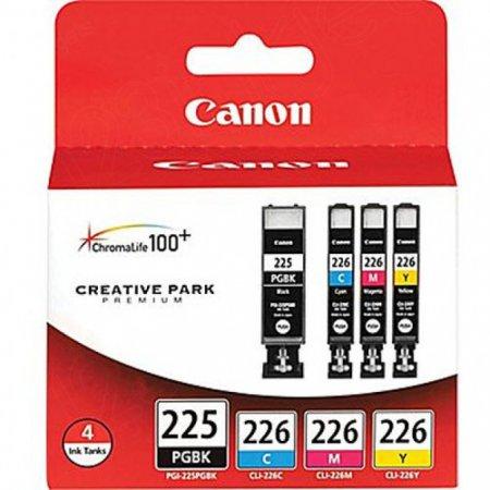 Canon 4530B008 4-Color Multipack PGI-225 / CLI-226 Ink Cartridges, OEM